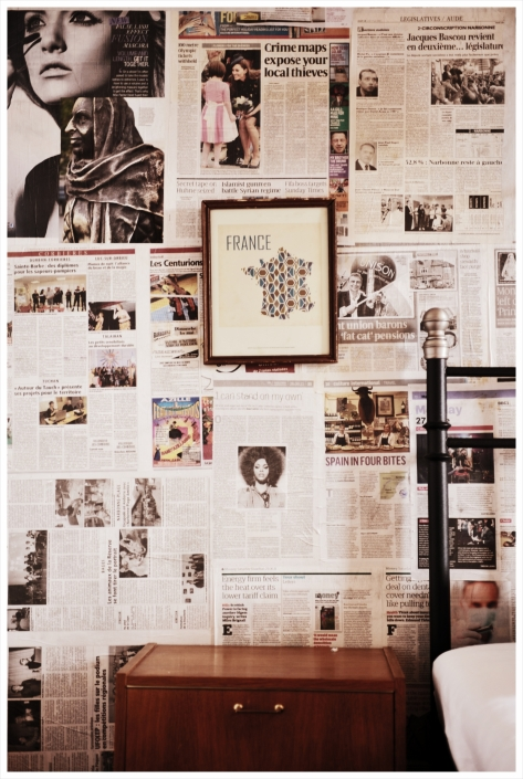 The Magazine paper wall