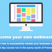 Web design short course 5 days southern France